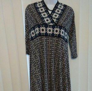 V-Neck Maggie London Dress